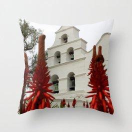 San Diego Mission Throw Pillow