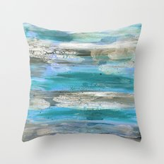ROCK STUDY IN BLUES Throw Pillow