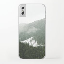 Valley of Trees Clear iPhone Case