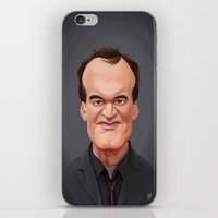 tarantino iPhone & iPod Skins featuring Celebrity Sunday ~ Quentin Tarantino by rob art | illustration