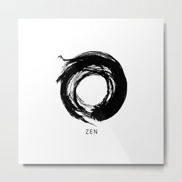 Zen Enso Circle Metal Print