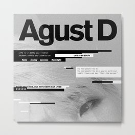 AGUST D Metal Print