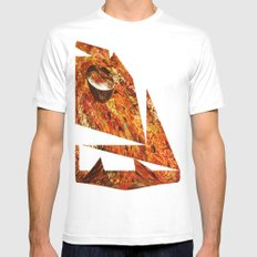 Abstract Texture  Mens Fitted Tee White MEDIUM