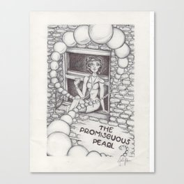 The Promiscuous Pearl Canvas Print