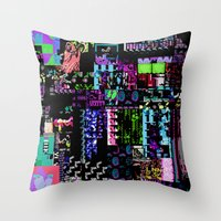 castlevania Throw Pillows featuring Glitchy by ChadXilla