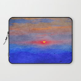 Paper-textured Sunset Laptop Sleeve
