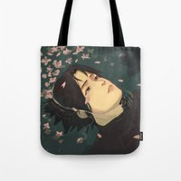sasuke Tote Bags featuring float by chibikizumi