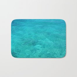 Clear Turquoise Water Bath Mat