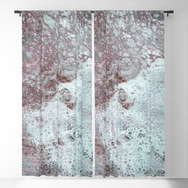 Waters Edge acrylic abstract painting Blackout Curtain