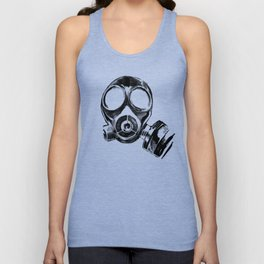 Impending Chaos / Dislocated Gas Mask — Portrait Unisex Tank Top