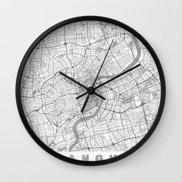 Shanghai Map Line Wall Clock