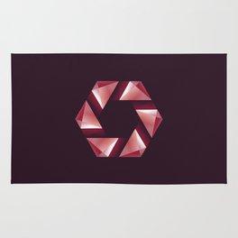 Alphabet letter polygon O Rug
