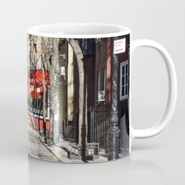 Greenwich Village street in winter Coffee Mug