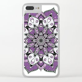 Mandala Purpel stars By Sonia H. Clear iPhone Case