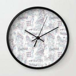 America art#4 Wall Clock