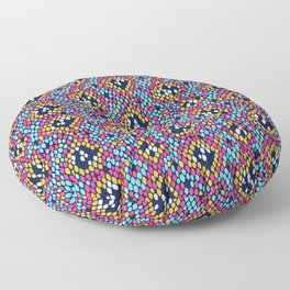 Snakeskin Pattern (Marigold, Pink and Blue) Floor Pillow