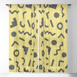 Memphis Pattern 525 Sheer Curtain