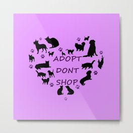 Love of the pets Typography Metal Print