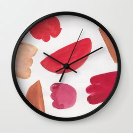 38    | 190408 Red Abstract Watercolour Wall Clock
