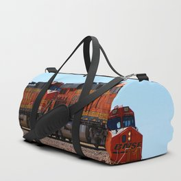 Orange BNSF Engines Duffle Bag