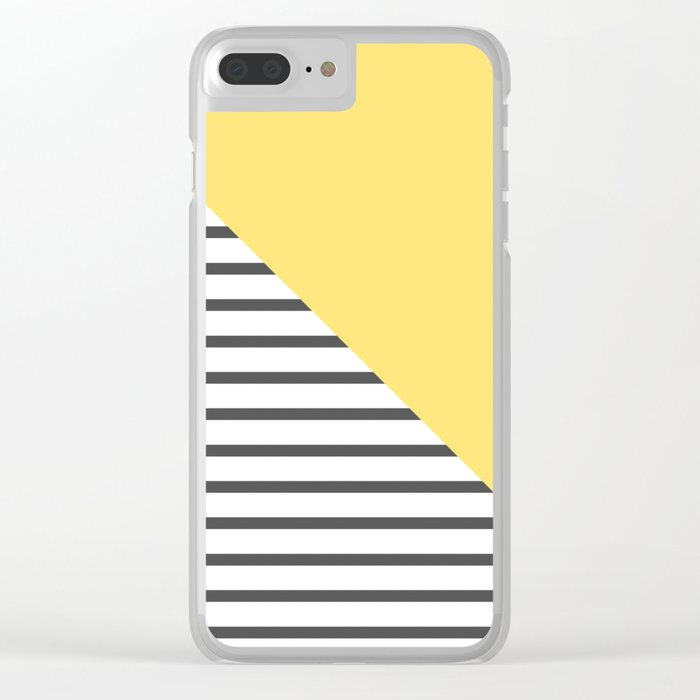 dismantled pattern Clear iPhone Case