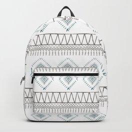 Blue Beige Aztec Backpack