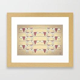Beagle Dilemma Framed Art Print