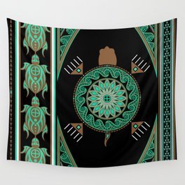 Green Turtle Wall Tapestry