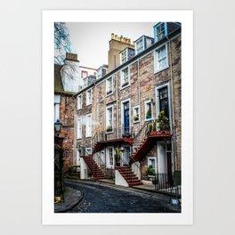 Edinburgh Façade Art Print