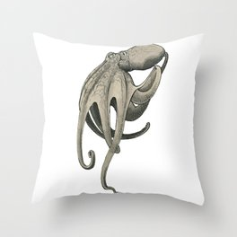 Inkwash Octopus Throw Pillow