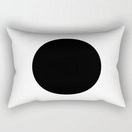The Circle – Black Rectangular Pillow