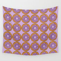 doughnut Wall Tapestries featuring doughnut by AWOwens