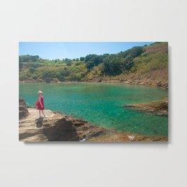 Contemplating the lagoon Metal Print