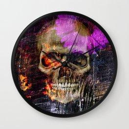 Daisy Skull Wall Clock