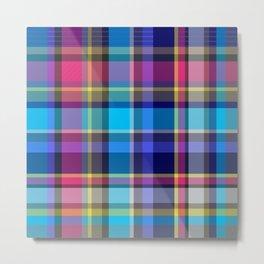 Navy, blue & Pink Tartan Plaid Metal Print