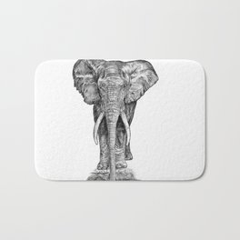 Elephant at the water hole. Bath Mat