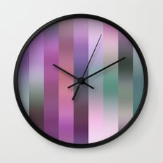 Violet Stripe Wall Clock