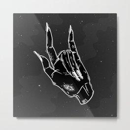 Idle Hand Metal Print