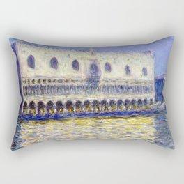 1908-Claude Monet-The Doges Palace (Le Palais ducal)-81 x 99 Rectangular Pillow