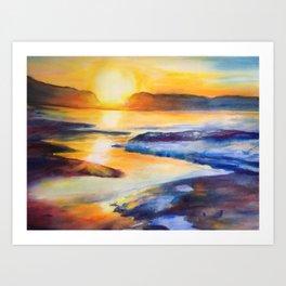 Melting Sun Art Print