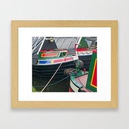 Traditional Narrowboats Framed Art Print