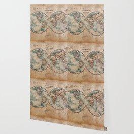 World Map Med 1800s Wallpaper