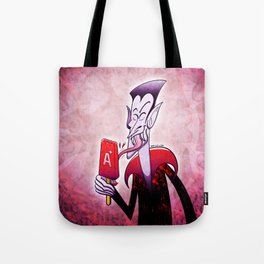 Dracula Licking a Blood Flavored Popsicle Tote Bag