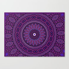 Lovely Healing Mandalas in Brilliant Colors: Purple, Raspberry, Grape, Wine, and White Canvas Print