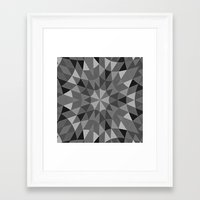 gray pattern Framed Art Prints featuring Gray Pattern by 2sweet4words Designs