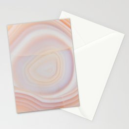 Cream & Pale Yellow Striped Agate Slice Stationery Cards