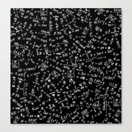 Equation Overload Canvas Print