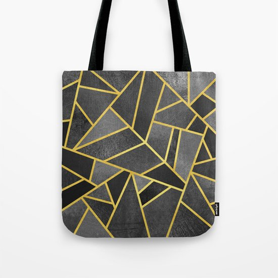 Grey Stone Tote Bag
