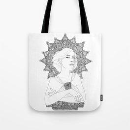 Art Nouveau Girl Tote Bag