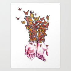 The Butterfly Project Art Print